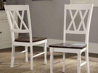 Shelby Dining Chair in White Finish  Set of 2    Retail 175 99