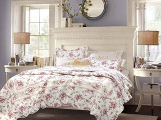 The Gray Barn Ravens Way Vintage Rose 3 piece Cotton Quilt Set  Retail 102 99