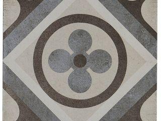 Porcelain Cement look 8 x 8 inch Cool Blend Decorative Tile in Petalo