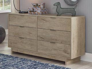 Oilah Natural Brown 6 Drawer Dresser  Retail 333 99