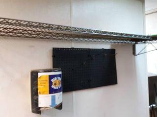 72  shelf with peg board