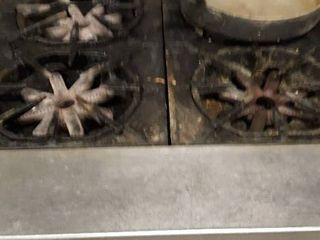 Garland 4 burner stock pot range