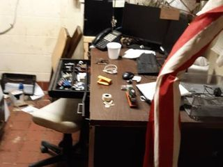 contents of office with security cameras and sound CV ontrol