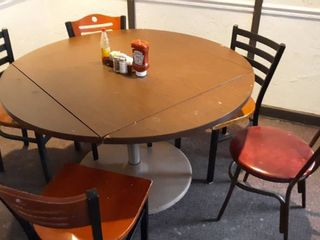 50 inch round or 36 inch square table with 5 chairs