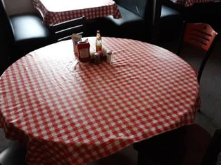 50  round of 36  square table with 5 chairs