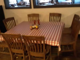 2 26 x 46 tables with 8 chairs