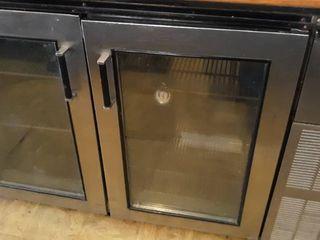 63  glass door perlick back bar cooler
