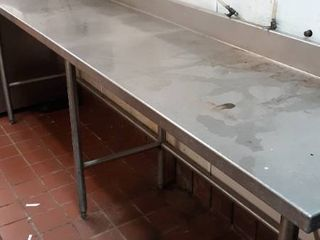 24 x 9  stainless table