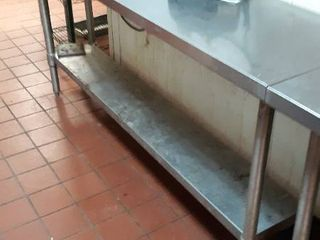 72 x 18 stainless table