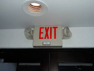 lot  10  exit signs   flood lights
