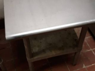 24 x 24 stainless table