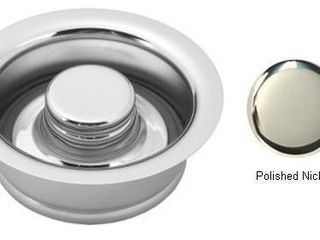 Westbrass InSinkErator Style Disposal Flange and Stopper D2089 in Polished Nickel