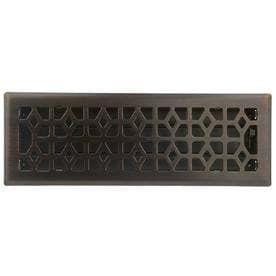allen   roth Marquis Oil Rubbed Bronze Steel Floor Register  Rough Opening  14 in x 4 in  Actual  15 42 in x 5 39 in