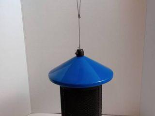 Blue Dual Mesh Seed Feeder Blue Metal Tube Bird Feeder