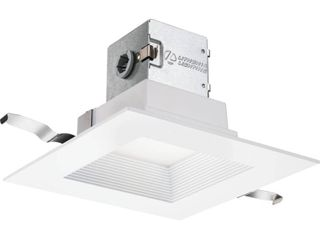 lithonia lighting lithonia One Up Square 6 in  White Integrated lED Recessed Kit