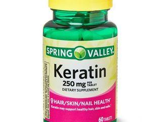 Spring Valley Keratin Tablets  250 mg  60 Ct