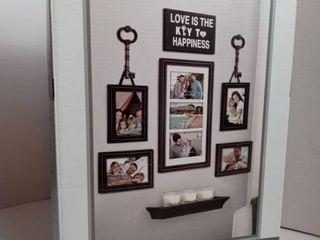 Family Photo Frame Set 9 Pieces True living Essentials Wall Decor Black