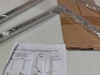 Mdesign Tall Stainless Steel Bathroom Towel Storage Rack Holder  Chrome