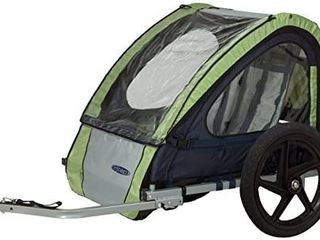 Instep Quick n ez Double Tow Behind Bike Trailer Converts To Stroller Jogger