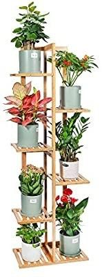 DESHENG Bamboo Plant Stand Rack