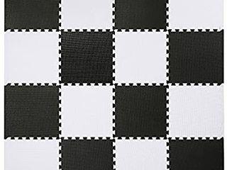 Interlocking Floor Tiles  6 Tiles EVA Foam Puzzle Mat with Borders GREY STARS
