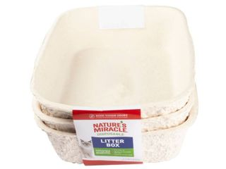 Nature s Miracle Disposable litter Box  Regular  3 Pack