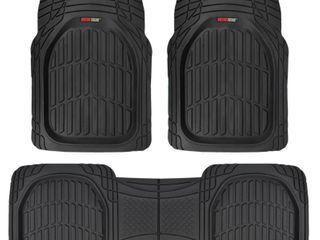 Motor Trend FlexTough Contour liners   Deep Heavy Duty Rubber Floor Mats   Black