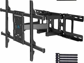 Full Motion TV Wall Mount Bracket Dual Articulating Arms Swivels Tilts Rotation for Most 37 70 Inch lED