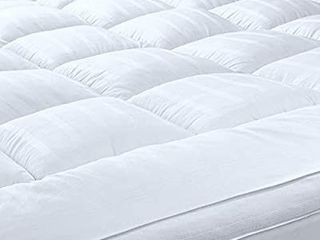 Mattress Topper with 100  Cotton Cover  King Size