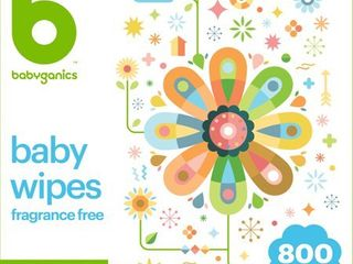Babyganics Face  Hand   Baby Wipes  Fragrance Free   800ct 10 Packs of 80