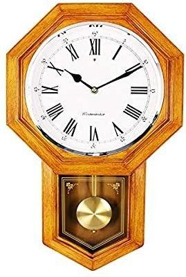 School House Pendulum Wall Clock