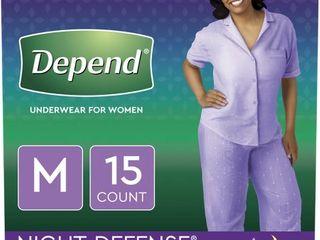 Depend Women s Night Defense Incontinence Underwear M   15ct