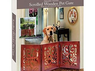 Etna 3 Section Adjustable and Scrolled Wooden Pet Gate
