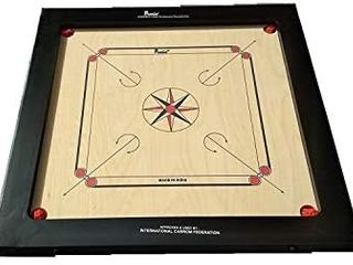 Precise Finest 20mm Carrom Board with Coins  Striker  and Powder by Tabakh