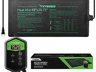 VIVOSUN 48 x20 75  Seedling Heat Mat and Digital Thermostat Combo Set