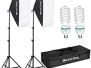Softbox lighting Kit Photography Studio light 20 X28  Professional Continuous light System with E27 95W Bulbs 5500K Photo Equipment for Filming Model Portraits Advertising Shooting