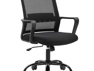 Home Office Chair Ergonomic Desk Chair Swivel Rolling Computer Chair Executive lumbar Support Task Mesh Chair Adjustable Stool for Women Men Black