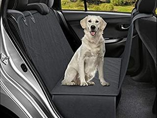Active Pets Dog Back Seat Cover Protector Waterproof Scratchproof Hammock for Dogs Backseat Protection Against Dirt and Pet Fur Durable Pets Seat Covers