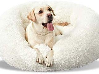 ANWA Washable Dog Round Bed Medium  Donut Dog Bed large Dog  Comfy Dog Calming Cuddler Bed