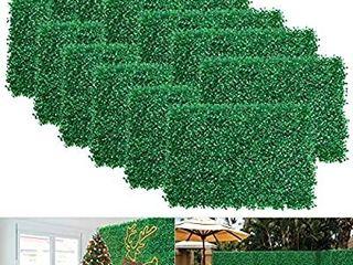 12pcs Boxwood Panels   24 x16  Artificial Faux Hedge Plant for 31 SQ Feet Per Boxwood Hedge Set