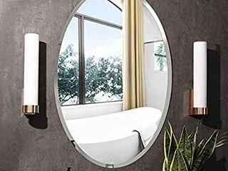 KOHROS Oval Beveled Polished Frameless Wall Mirror