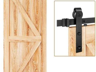 Easelife 6 FT Heavy Duty Sliding Barn Door Hardware Track Kit