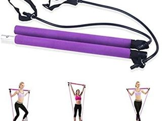 Pilates Exercise Stick Fitness Resistance Bands Rope Puller Bar For Abdominal