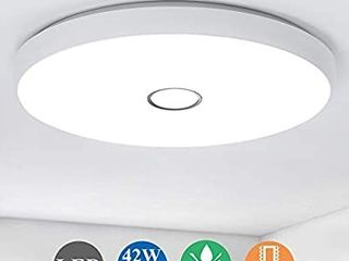 Airand 42W lED Ceiling lights Flush Mount  19 3in Round Ceiling light Fixture  lED light Fixture for living Room  Bedroom  Kitchen  Dining Room  Office  3800lM Ceiling lamp  5000K Daylight White
