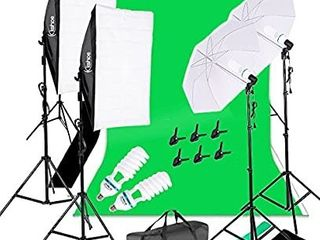 Umbrellas Softbox Continuous lighting Kit with Backdrop Support System for Photo Studio Product  Portrait and Video Shoot Photography