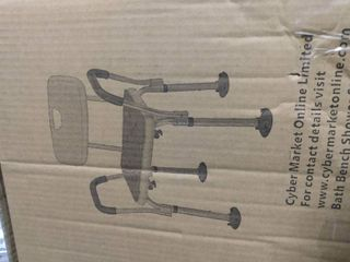 Shower Chair For Elderly With Rails easily Adjustable Benches white