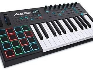Alesis VI25   25 Key USB MIDI Keyboard Controller with 16 Pads  16 Assignable Knobs  48 Buttons and 5 Pin MIDI Out Plus Production Software Included