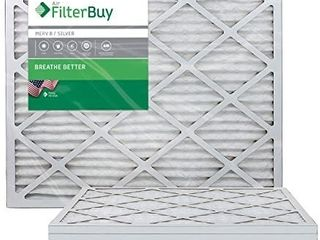 FilterBuy 10x24x1 MERV 8 Pleated AC Furnace Air Filter   Pack of 4 Filters  10x24x1 a Silver