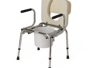 Medline Drop Arm Commode  Padded