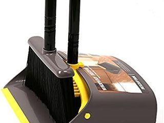 Broom and Dustpan Broom with Dustpan Combo Set Standing Dustpan Dust Pan with long Handle 40 52  for Home Kitchen Room Office lobby Indoor Floor Cleaning Broom Dustpan Set Upright